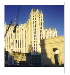 Paris Las Vegas Hotel under construction